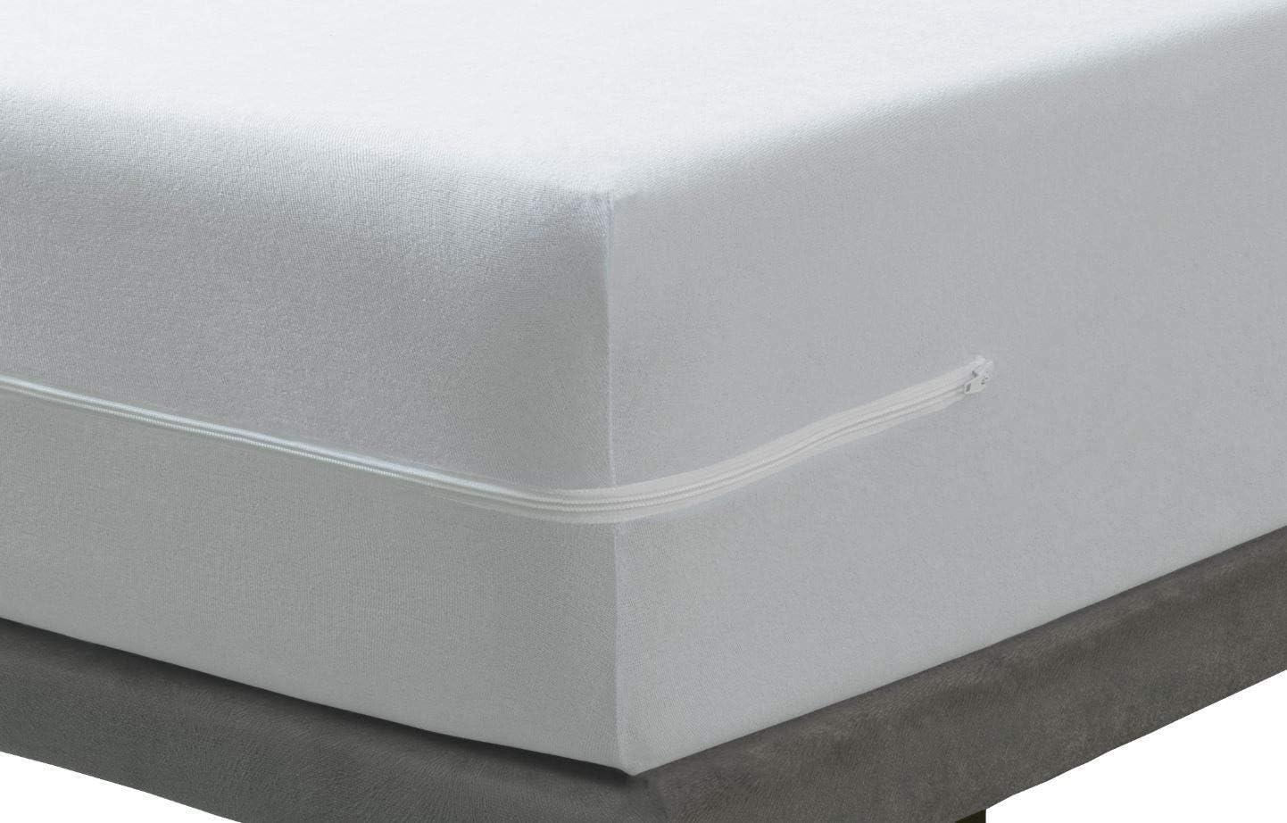Savel 60 x 120 cm Protecteur//Couvre-Matelas Ajustable avec Fermeture /éclair Tissu r/ésistant en Coton Housse de Matelas /élastique et Respirante Hauteurs de Matelas allant jusqu/à 15 cm