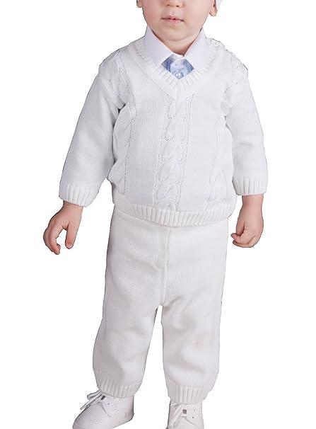 Boutique-Magique - Ropa de bautizo - para bebé niño blanco 24 Meses: Amazon.es: Ropa y accesorios