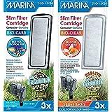 Marina (3 of Each) Slim Filter Carbon Plus Ceramic Cartridges and Zeolite Plus Ceramic Cartridges