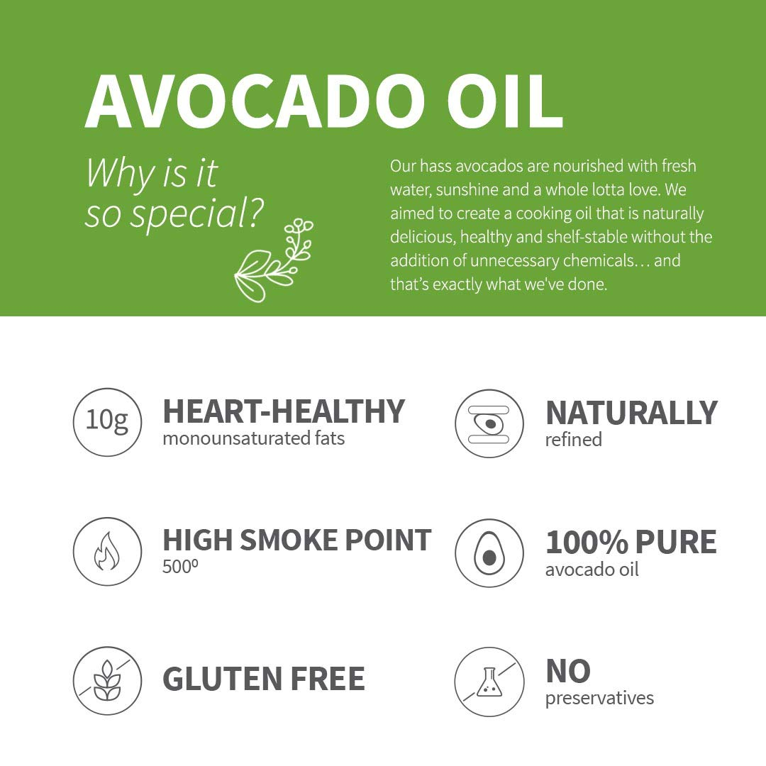 Chosen Foods 100% Pure Avocado Oil Spray 4.7 oz. (8 Pack), Non-GMO, 500° F Smoke Point, Propellant-Free, Air Pressure Only for High-Heat Cooking, Baking and Frying by Chosen Foods (Image #7)