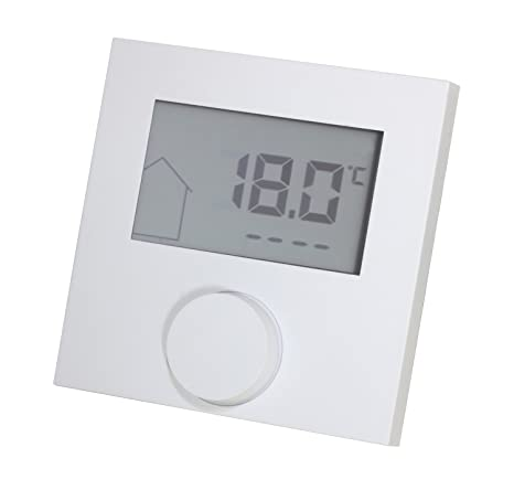 Termostato LCD Alpha Direct 230 V Color Blanco, para calefacción por suelo radiante