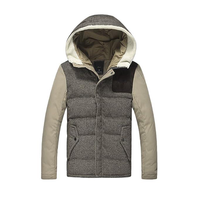 Bmeigo Hombre Abrigo con Capucha, Chaqueta Invierno algodón Puffer Outerwear Padded Warmer Overcoat: Amazon.es: Ropa y accesorios