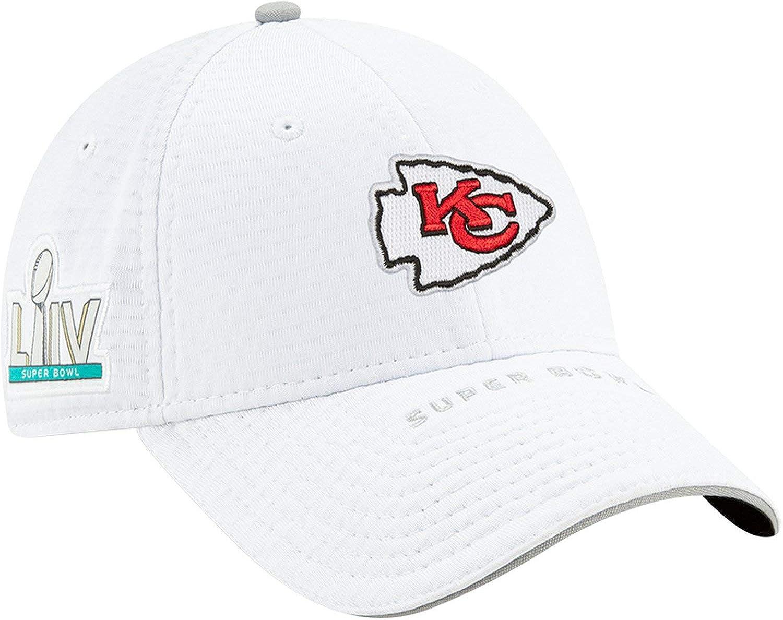 New Era NFL Kansas City Chiefs Super Bowl LIV on Field 9Forty Snapback Casquette Blanc