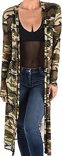 product image for Funfash Women Camo Army Green Sheer Mesh Kimono Duster Cardigan Coat Jacket USA