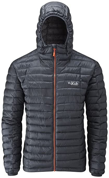 a2ee53b3af79 Amazon.com : RAB Nimbus Jacket - Men's Ebony/Zinc Small : Clothing