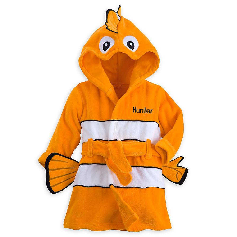 Disney Nemo Bath Robe for Baby - Orange 440423847262