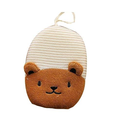 Cepillo de baño encantador bebé modelo animal para tomar una esponja de baño, osos rayados