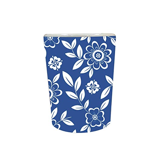 YaYa Cafe™ Blue Pottery Indigo Admirable Decorative Pots Planter Indoor (Only Pot)
