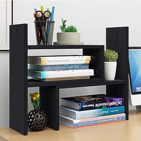 MXD Estantería Recomendado Escritorio Pequeño Estantería Librería Mesa de combinación Rack de Almacenamiento Escritorio Rack de Almacenamiento Negro: Amazon.es: Hogar