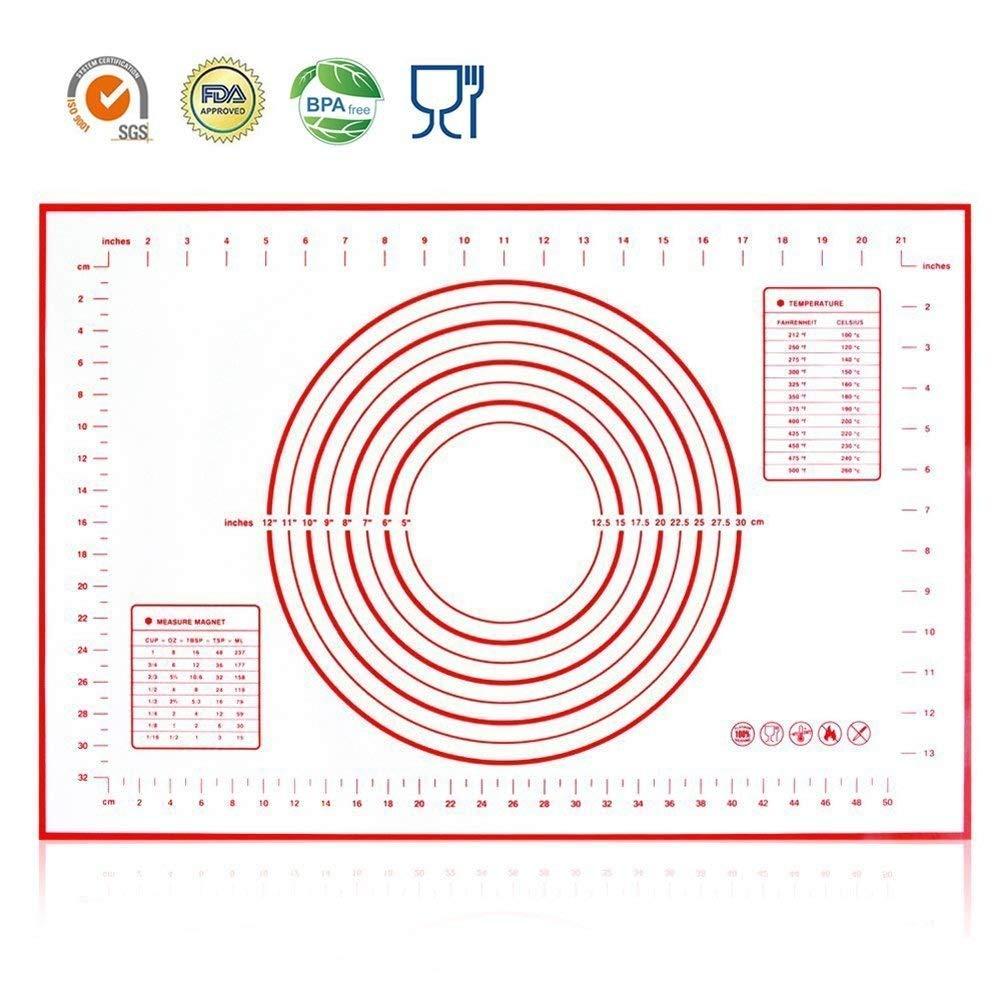 HANWELL - Alfombrilla de silicona para hornear de 60 cm x 40 cm ...