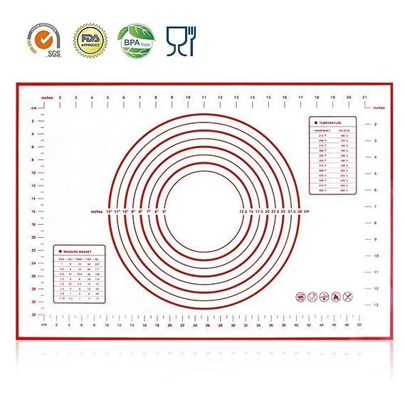 Amazon.com: Hanwell alfombrilla de horneado de silicona 23.6 ...