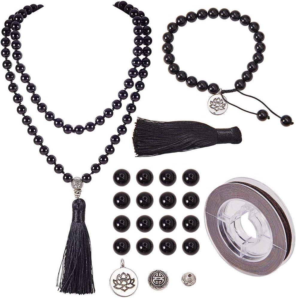SUNNYCLUE DIY 1 Set 108 Malasia Jade Piedras Preciosas Mala Beads/Collar de Buda con Cuentas Kit de fabricación de Joyas