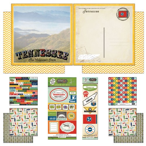 (Scrapbook Customs Themed Paper and Stickers Scrapbook Kit, Tennessee Vintage)