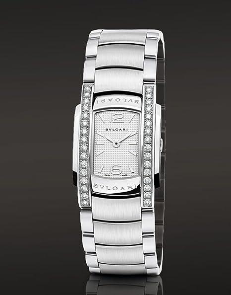 Bvlgari Assioma diamantes de cuarzo reloj de pulsera para mujer aa35 C6sds