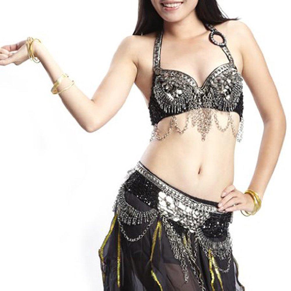 9c6aee561339a Amazon.com  BellyLady Gypsy Black Belly Dance Costume