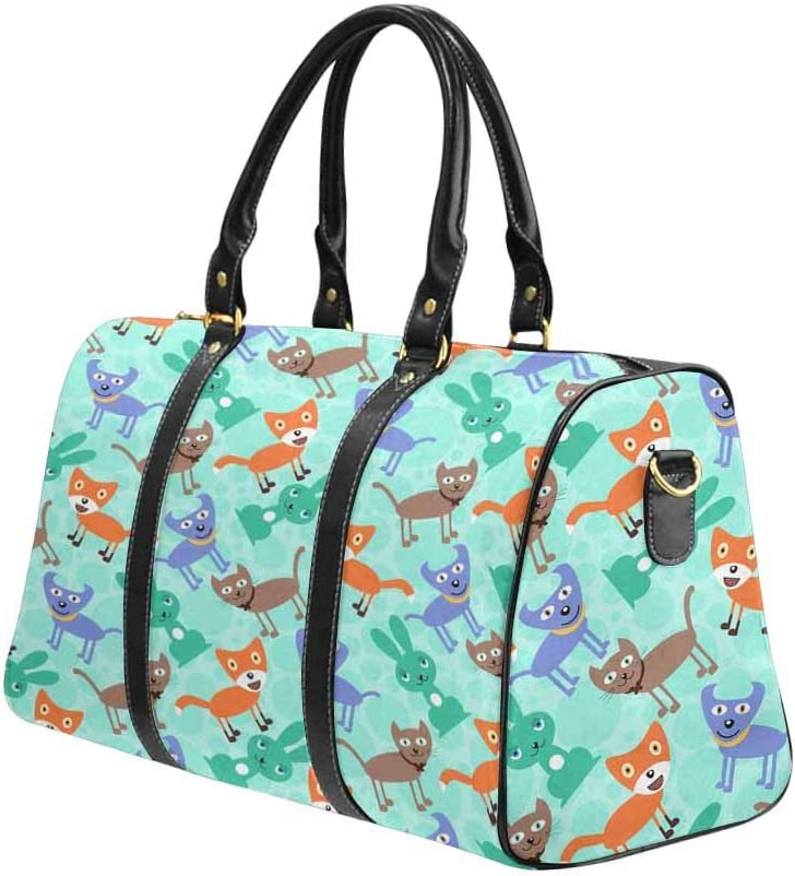 InterestPrint Carry-on Garment Bag Travel Bag Duffel Bag Weekend Bag Funny Car to on Animal