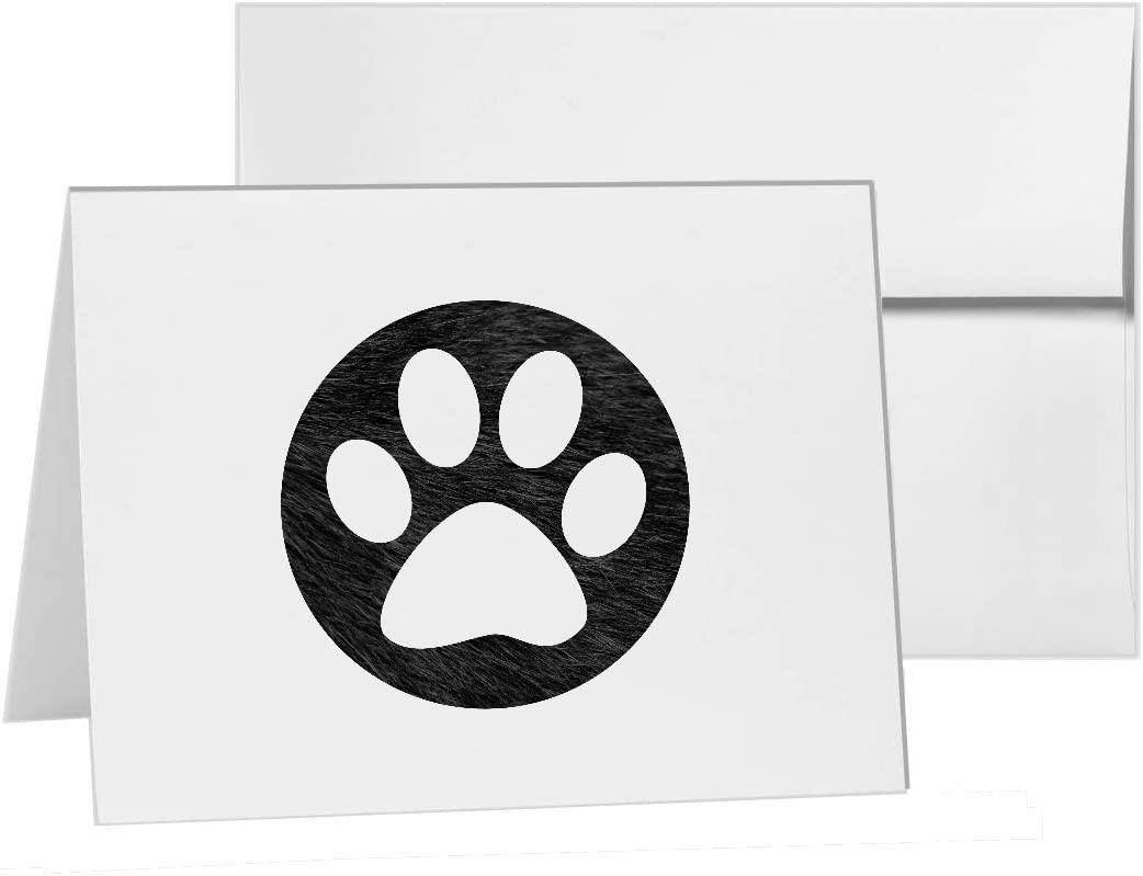 Havanese silhouette paw print note card stationery gift card blank card note card