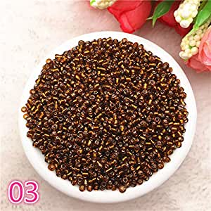 New 1000 pcs 2mm Charm Glass Beads Necklace DIY Bracelet for Making Jewelry Accessories,3