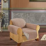 elegant comfort reversible quilted furniture protector special treatment microfiber as soft as egyptian cotton