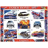 The cars of James Bond 007 mint stamp sheet with 9 stamps for collectors / Mint condition / 2001 / Congo