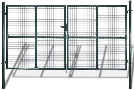 vidaXL Puerta de Malla de Jardín para Cercar Verja de Pared 300 x 175 cm / 315 x 225 cm: Amazon.es: Jardín