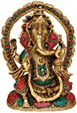 Inlay Ganesha - Brass Statue with Inlay