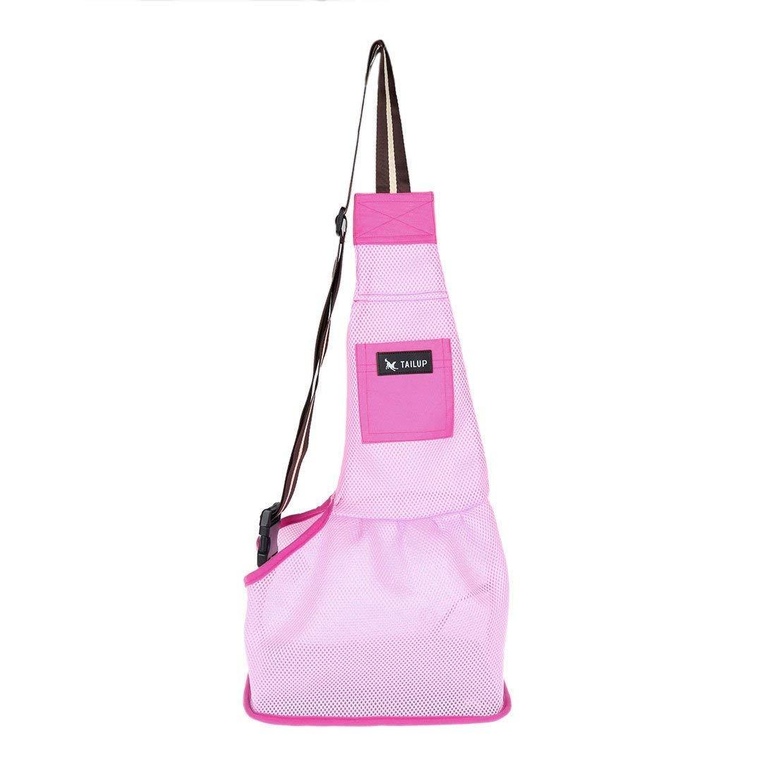 1Pc L, Pink   Pet Dog Cat Front Backpack Travel Single Shoulder Carrier Bag with Pocket