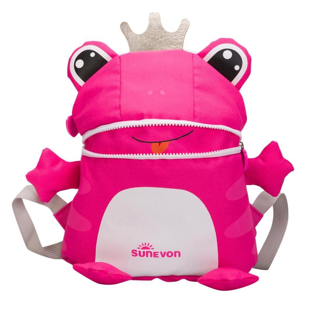 Swyss Kids backpack-three-dimensional Cartoon Frog bookpack-幼児用スクールバッグ – 特別なとかわいい赤ちゃん女の子男の子バックパック  レッド B07FQ6YVJ8