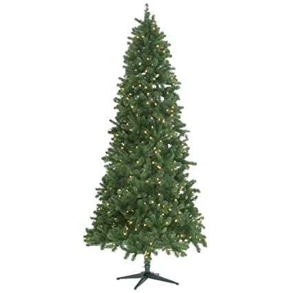 9 ft pre lit led grand duchess slim pine quick set artificial christmas tree