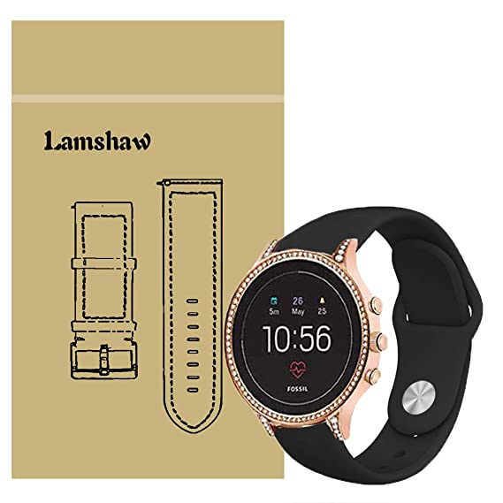 Blueshaw Band Compatible for Fossil Q Venture Gen 4 Bands, Sport Silicone Replacement Strap for Fossil Q Venture Gen 4 / Fossil Q Venture Gen 3 ...