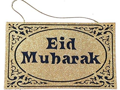 Glitter Eid Mubarak Felt Hanging Gold