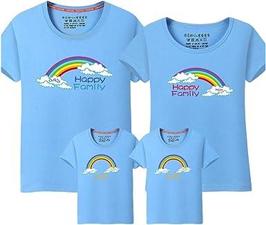 Rengzun Camisetas para Parejas Familiar Mujer Hombre Niño Manga Corta Dibujos Animados Imprimiendo Camiseta T-Shirt para Daddy Mommy Niños Verano: Amazon.es: Ropa y accesorios