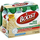 Boost High Protein Complete Nutritional Drink Very Vanilla 6 PK (Pack of 12)