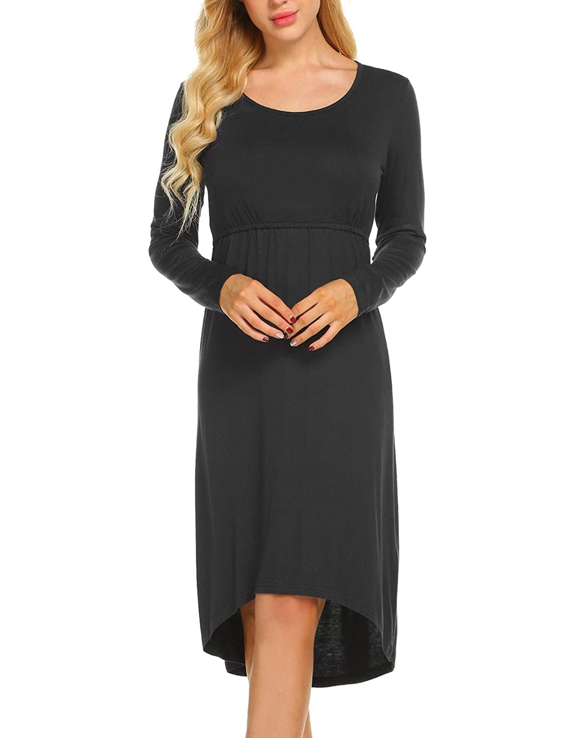 Skylin Delivery Labor Nursing Nightgown Womens Cotton Pregnancy Gown for  Hospital Long Sleeve Breastfeeding Dress S-XXL at Amazon Women s Clothing  store  015f973d6
