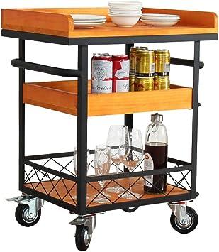 Amazon Com Trolley Multi Function Hotel Dining Cart Wine Service Cart Kitchen Bedroom Living Room Storage Shelf Storage 604077cm Bar Serving Carts