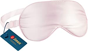 Natural Silk Sleep Mask, Super-Smooth & Soft Eye Mask with Adjustable Strap, Blindfold, Perfect Blocks Light, Pressure Free for A Full Night's Sleep (Pink)