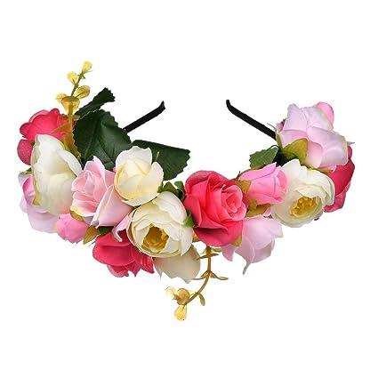 6b183d57 okbo Corona de flores, flores cinta boda flor corona boho Flores ...