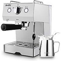 Barsetto 15 Bar Stainless Steel Espresso Coffee Machine