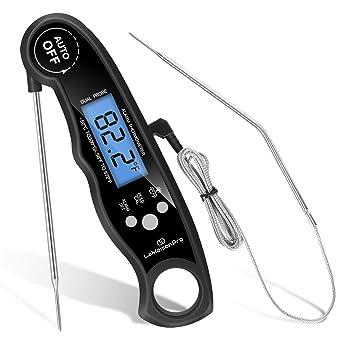 term/ómetro para alimentos sonda doble para cocinar a la parrilla Term/ómetro digital para barbacoa de carne de lectura instant/ánea