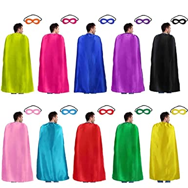 8f0830665 Superhero-Capes for Adults with Masks Bulk, Women Men Super-Hero Themed  Birthday