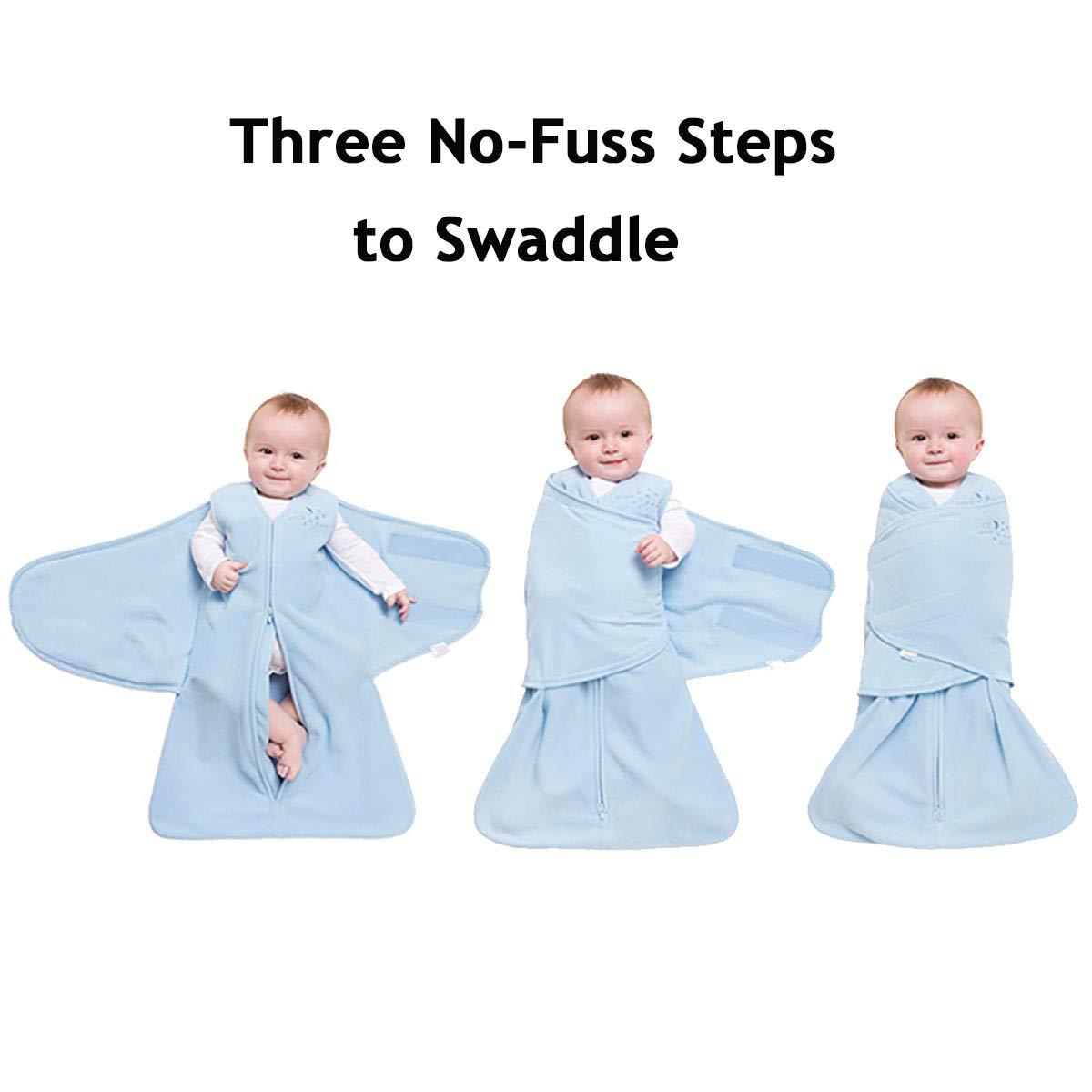 Small Baby Blue HALO SleepSack 100/% Cotton Swaddle