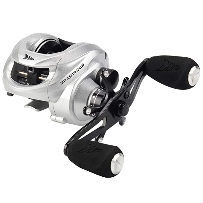 KastKing Spartacus Baitcasting Reels, Low Profile Baitcasters, 17.5LB Carbon Fiber Drag, 6.3:1 Gear Ratio Fishing Reel - The Perfect Warrior for Bass ...