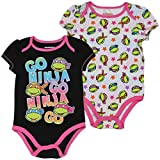 girl toddler ninja turtle shirt - Bentex Group, Inc Teenage Mutant Ninja Turtles Baby Girl 2pk Creeper Set (0-3 Months)