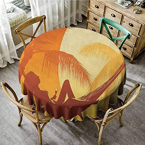 Round Tablecloth Trellis 55