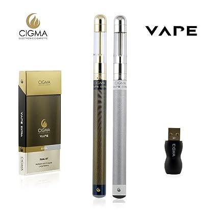 Cigma Vape Dual Kit | grande de la batería | Gran Clearomizer | Recargable recargable E ...