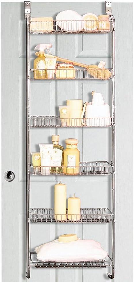 Store Metal Over Door Back Of Door Bathroom Storage Rack Silver Amazon Co Uk Health Personal Care