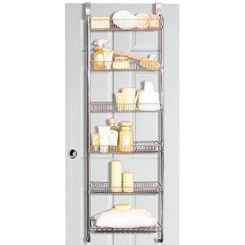 Perfect STORE   Metal Over Door / Back Of Door Bathroom Storage Rack   Silver