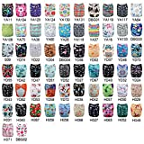 Babygoal 20pcs U Pick Baby Cloth Diapers, One Size Adjustable Reusable Pocket Cloth Diaper Nappy, 20pcs Diapers+20pcs 4-Layer Bamboo Inserts+One Baby Bib+One Free Cloth Diaper Cover UP02-CA