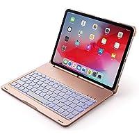 LoMe Teclado Bluetooth de 10.5 Pulgadas Teclado Colorido retroiluminado Teclado de Metal Desmontable Teclado inalámbrico para iPad pro10.5