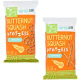 Real Food From the Ground Up Butternut Squash Pretzel Variety Bundle of TWO: One Bag of Sticks and One Bag of Twists